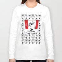 kentucky Long Sleeve T-shirts featuring Kentucky Fried Unicorn by That's So Unicorny