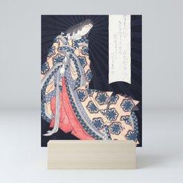 Sotoorihime, goddess of Japanese poetry Mini Art Print