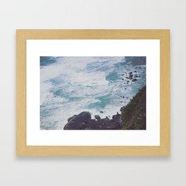 Blue Ocean - Seals on Rocks Framed Art Print