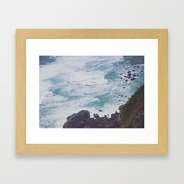 Blue Ocean - Seals on Rocks Framed Art Print
