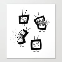 weapons of mass creation Canvas Prints featuring Weapons of Mass Distraction by Michelle Walker | dutchfireball