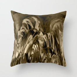 Unique Brown Abstract Throw Pillow