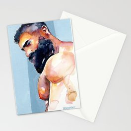 Bearded Hunk Stationery Cards