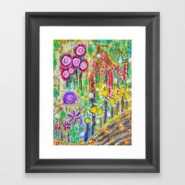 Snail in the Grass Framed Art Print