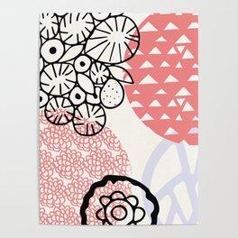 palm desert: 80's pastel patterns Poster