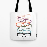 frames Tote Bags featuring Stacking Frames by Tavia Lawrence
