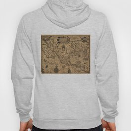 Vintage Map of Mexico (1600) Hoody