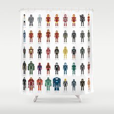 Iron Man - The Pixel Collection Shower Curtain
