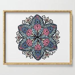 Mandala pink and blue Serving Tray