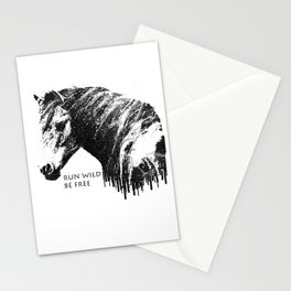 RUN WILD BE FREE Stationery Cards