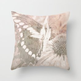butterfly haze Throw Pillow