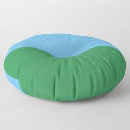 Minimal countryside landscape Floor Pillow