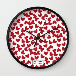 HEART / pattern pattern Wall Clock
