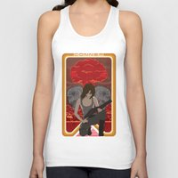 mucha Tank Tops featuring Modern Mucha - Sarah Conner by Frank DeAngelo