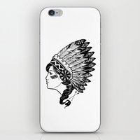 indian iPhone & iPod Skins featuring Indian by Joshua Bowers