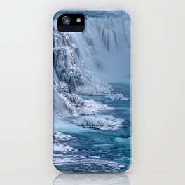 Glacial Frozen Waterfalls iPhone Case
