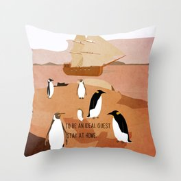 Guests arrive 8 Throw Pillow