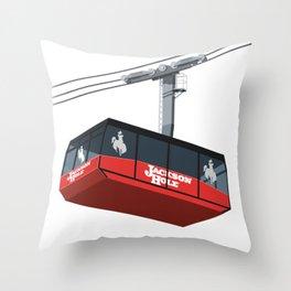 Jackson Hole Cable Car Throw Pillow