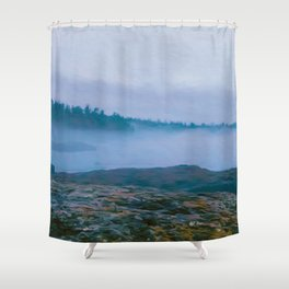 North Shore Fog Shower Curtain