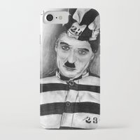 chaplin iPhone & iPod Cases featuring Chaplin by D.E.Pérez