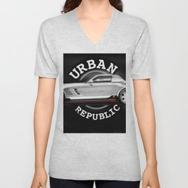 car - M Benz draw Unisex V-Neck