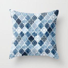Moroccan trellis Throw Pillow