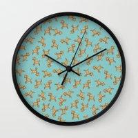 giraffes Wall Clocks featuring Giraffes! by Kashidoodles Creations