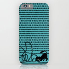 Unravel (in Blue) iPhone Case