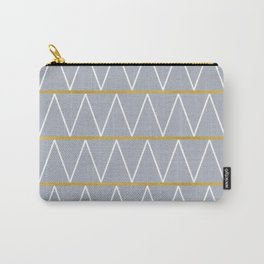 Gold and grey zigzag Carry-All Pouch