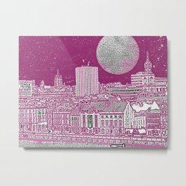 PURPLE AND THE CITY Metal Print
