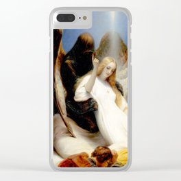 The Angel of Death Clear iPhone Case