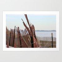 plum beach Art Print
