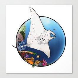 Manta Flight Canvas Print
