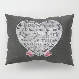 I Love You Chalk Heart Pillow Sham