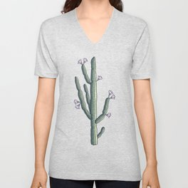 Beautiful cacti bloom Unisex V-Neck
