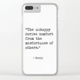 Aesop Greek philosopher Clear iPhone Case