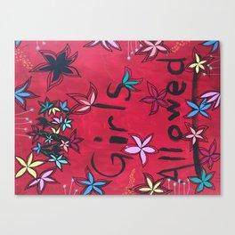 GIRLS ALLOWED Canvas Print