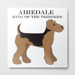 Airedale Metal Print