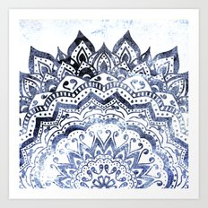 BLUE ORION JEWEL MANDALA Art Print