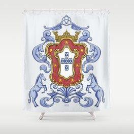 Portuguese Crest Shower Curtain
