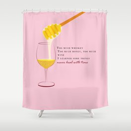 Honey and Wine Shower Curtain