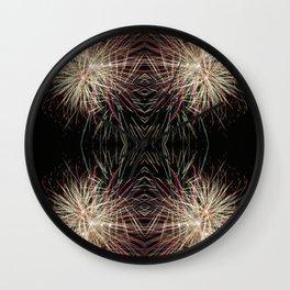 Neon Lights | Firework Frame Wall Clock