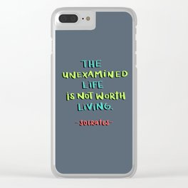 Socrates - the unexamined life Clear iPhone Case