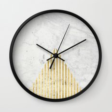 Trian Gold Wall Clock