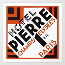 Hotel Pierre Paris Art Deco Art Print