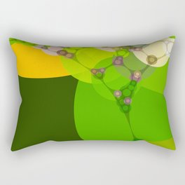 veronica - bright abstract of lime grass green and warm gold yellow Rectangular Pillow