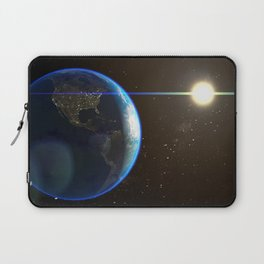 Night Lighted Earth from space Laptop Sleeve