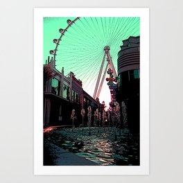 Las Vegas at the Linq Art Print