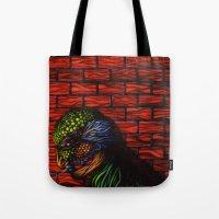 birdman Tote Bags featuring Birdman by Thom Whalen