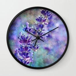 Lavender Grunge Wall Clock